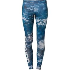 adidas Originals NIGHT Leggings ($24) ❤ liked on Polyvore featuring pants, leggings, bottoms, calças, roupas, blue, blue leggings, adidas originals pants, blue pants and legging pants