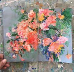 Sonal Nathwani Kunstjournal Inspiration, Art Journal Inspiration, Art Inspo, Art Floral, Collages, Acrylic Painting Inspiration, Art Diary, A Level Art, Abstract Flowers