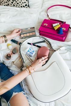Tips for Switching Purses + Handbag Essentials + the Perks of Switching Bags Often   apinchoflovely.com   Orbit Gum   #ad