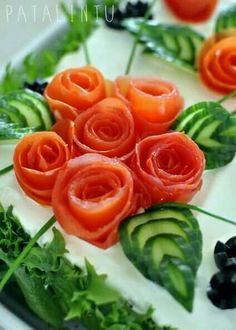 Flores de tomates : food garnishing tips and decoration ideas - www.pureclipart.com