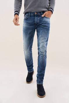 Calça Jeans Feminina Jogger com Cordão Azul Claro cea