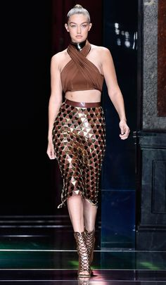 Kendall Jenner Dominates the Balmain Spring 2016 Show—Twice from InStyle.com