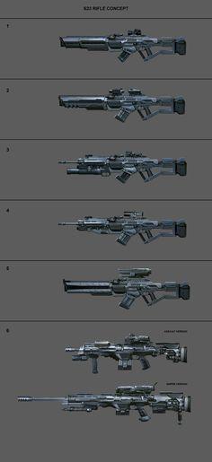 Sniper Ghost Warrior 3 concept art - weapons, Michal Matczak
