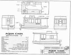 Aqua Casa Houseboat, Aqua Casa Plans, Aqua Casa Houseboat Plans