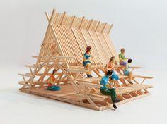 Tectonic Architecture, Bamboo Architecture, Cultural Architecture, Architecture Design Concept, Architecture Details, Interior Architecture, Bow Wow, Urban Furniture, Street Furniture