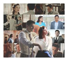 """Peggy Carter & Daniel Sousa"" by whereisnet ❤ liked on Polyvore featuring art, marvel, Superhero, peggycarter, agentcarter and DanielSousa"