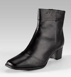 for work? M&S, Footglove™ Leather Ankle High Wide Fit Boots