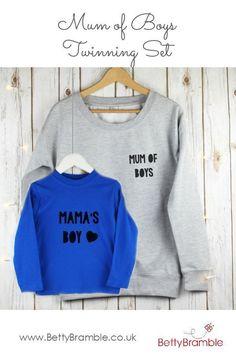 dc446249 Mum sweatshirt, twiinning outfits, twinning mother sons, mom sweatshirt,  mum of boys