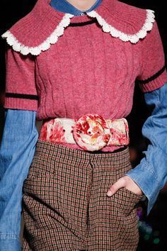awesome Miu Miu Fall 2016 Ready-to-Wear Fashion Show Details - Vogue Indie Outfits, Punk Outfits, Grunge Outfits, Cool Outfits, Fashion Week Paris, Runway Fashion, Womens Fashion, Fashion Trends, Haute Couture Style