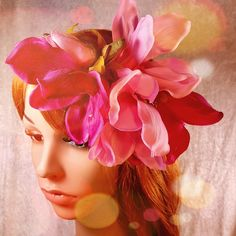 Blomsterkrans med pink magnoliaer