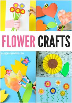25 Wonderful Flower Crafts Ideas for Kids and Parents to Make - Easy Peasy and Fun Spring Crafts For Kids, Crafts For Kids To Make, Wonderful Flowers, Pretty Flowers, Preschool Crafts, Fun Crafts, Creative Kids Snacks, Fun Activities To Do, Kids Corner