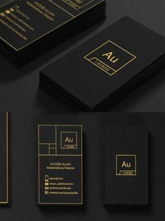 Sleek Black Business Card - great design!