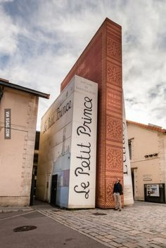 Big books - entrance of the public library Méjanes in Aix-en-Provence, France