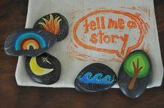Drool: Tell Me A Story: Story Stones & Linen Bag