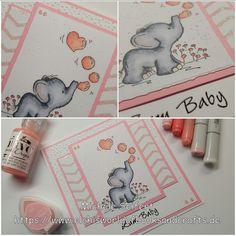 Babykarte | LOTV - Blowing Bubbles  https://www.elchisworldofbooksandcrafts.de/babykarte-lotv-blowing-bubbles/