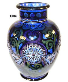 beautiful vase the blues & greens are lovely.