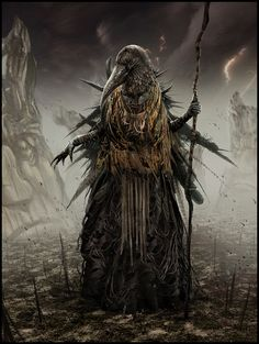 Mark Molnar - Sketchblog of Concept Art and Illustration Works: Hellblade - Crow Witch