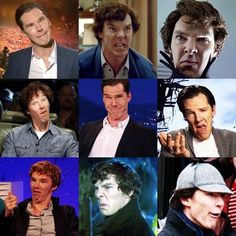 Benedict Cumberbatch, everyone. And why is he so damn adorable? Because he makes these faces... hahaha