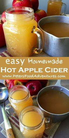Hot Apple Cider - Peter's Food Adventures A classic American spiced drink popular during Thanksgiving and Christmas. This non-alcoholic mulled cider recipe is perfect for a cold chilly night - Homemade Hot Apple Cider Apple Cider Alcohol, Apple Cider Drink, Mulled Apple Cider, Warm Apple Cider, Homemade Apple Cider, Hot Apple Cider Recipe With Apple Juice, Homemade Apple Juice Recipes, Hot Mulled Cider Recipe, What Is Apple Cider