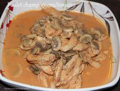 Poulet aux champignons et tomates(Recette au Companion)