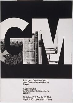Armin Hofmann. Aus den Sammlungen des Gewerbe-Museums Basel. 1964. Lithograph. 50
