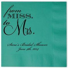 bridal shower napkins beforetheidos bridalshower httpwwwbeforetheidoscom
