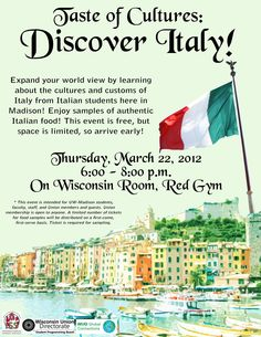 Taste of Cultures: Italy   2012