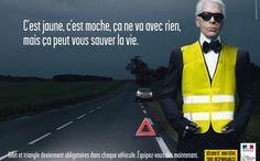 La Sécurité routière rhabille Lagerfeld - Stratégies