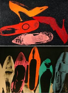 Andy Warhol, shoe prints.