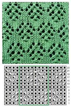 Knitting Charts, Lace Knitting, Knitting Stitches, Knitting Patterns, Knit Crochet, Crochet Patterns, Lace Patterns, Stitch Patterns, Lana