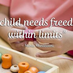 Freedom within limits is an underlying principle of #Montessori education. It embraces the notion of the child as an explorer who is capable of learning and doing for themselves.  So how do limits encourage freedom and empower Montessori students? To learn more read our blog, link in bio.