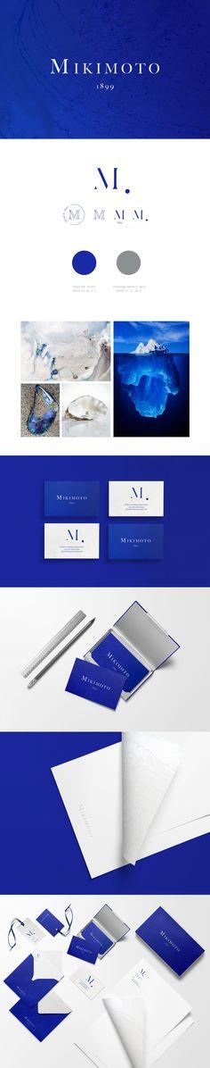 Mikimoto_ViolaWyszynska Collateral Design, Brand Identity Design, Branding Design, Logo Design, Graphic Design, Logo Branding, Logos, Visual Identity, Corporate Identity