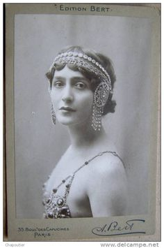 Lina Cavalieri - Italian Opera Photo Originale BERT Célébrité ...