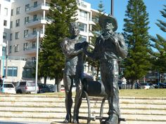 Coogee Beach. Statues in honour of surf lifesavers.