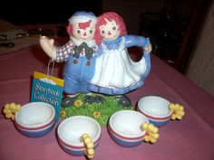 *RAGGEDY ANN & ANDY ~ Storybook Village Collection Tea Set | eBay