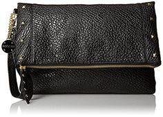 Rosetti Justine Foldover Clutch Black Stud One Size -- Check out the image by visiting the link.