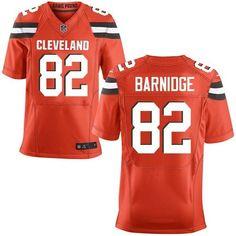 Men Cleveland Browns #82 Gary Barnidge Orange Alternate Stitched NFL New Elite Jersey