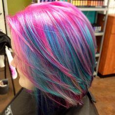 Coral with Magenta Peek-a-boos - Hair Colors Ideas