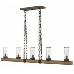 Sawyer Outdoor Linear Chandelier | Hinkley Lighting at Lightology