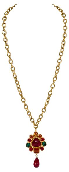 Chanel Gripoix Drop Pendant Necklace | One Kings Lane