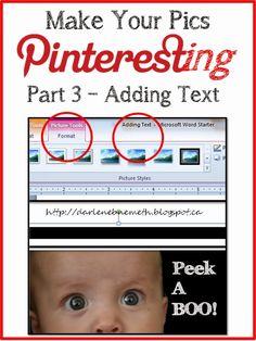Pinteresting Photo -  Adding Text