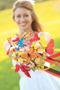 Non-floral wedding bouquets are becoming more and more popular. They're unique, some are more affordable than a traditional bouquet and they'll never die Wedding Bride, Floral Wedding, Wedding Blog, Wedding Flowers, Dream Wedding, Wedding Ideas, Wedding Stuff, Wedding Fail, Crazy Wedding