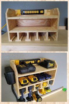 + 45 Resource To Help You Become Tool Storage Ideas Garage 11 Garage Workshop Organization, Garage Tool Storage, Workshop Storage, Garage Tools, Power Tool Storage, Power Tools, Workbench Organization, Garage Kits, Wood Workshop