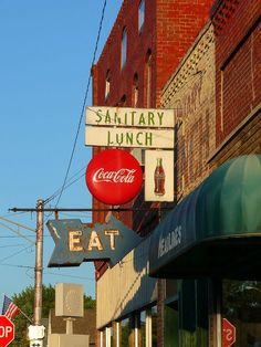 """Cafe on Hwy 26 in Rossville, Indiana (long gone now).  Like they might serve an """"unsanitary lunch""""!"""