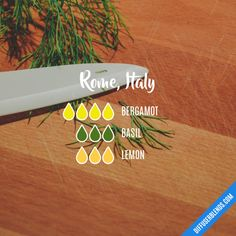 Rome, Italy - Essential Oil Diffuser Blend