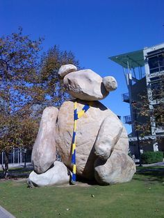 """On UCSD campus: the Warren College """"Bear"""" is apparently well prepared for the cold-ass weather we've been having. Mandala Coloring Pages, Alma Mater, Dorm, San Diego, Happiness, Spirit, College, Japanese, Bear"""