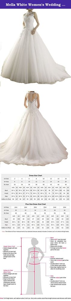 Mella White Women's Wedding Dresses for Brides Lace Wedding Dress 2017 (Custom). Mella Bridal White Illusion Lace Wedding Dress for Bride 2017 Ball Gown Casamento Elegant Long Wedding dresses Free Super Gift: 30$ worth of Long Bridal Veils with Lace appliques, up to 9 ft (approximately 3m), Same Lace pattern as that of the wedding dress shown in picture. Perfect match for the brides. Standard Size Option: Choose the size from the dropdown menu according to our Size Chart Image displayed…