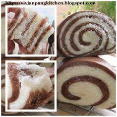 Vivian Pang Kitchen: Chocolate Spiral Mantou/ Sponge Dough Method
