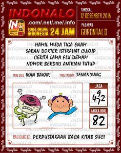 Kodal Lotre 2D Togel Wap Online Live Draw 4D Indonalo Gorontalo 12 Desember 2016
