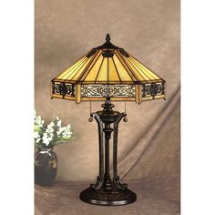 Colletion Quoizel Tiffany Table Lamps Interesting Lantern Lighting Maple Material And For Floor Living Room
